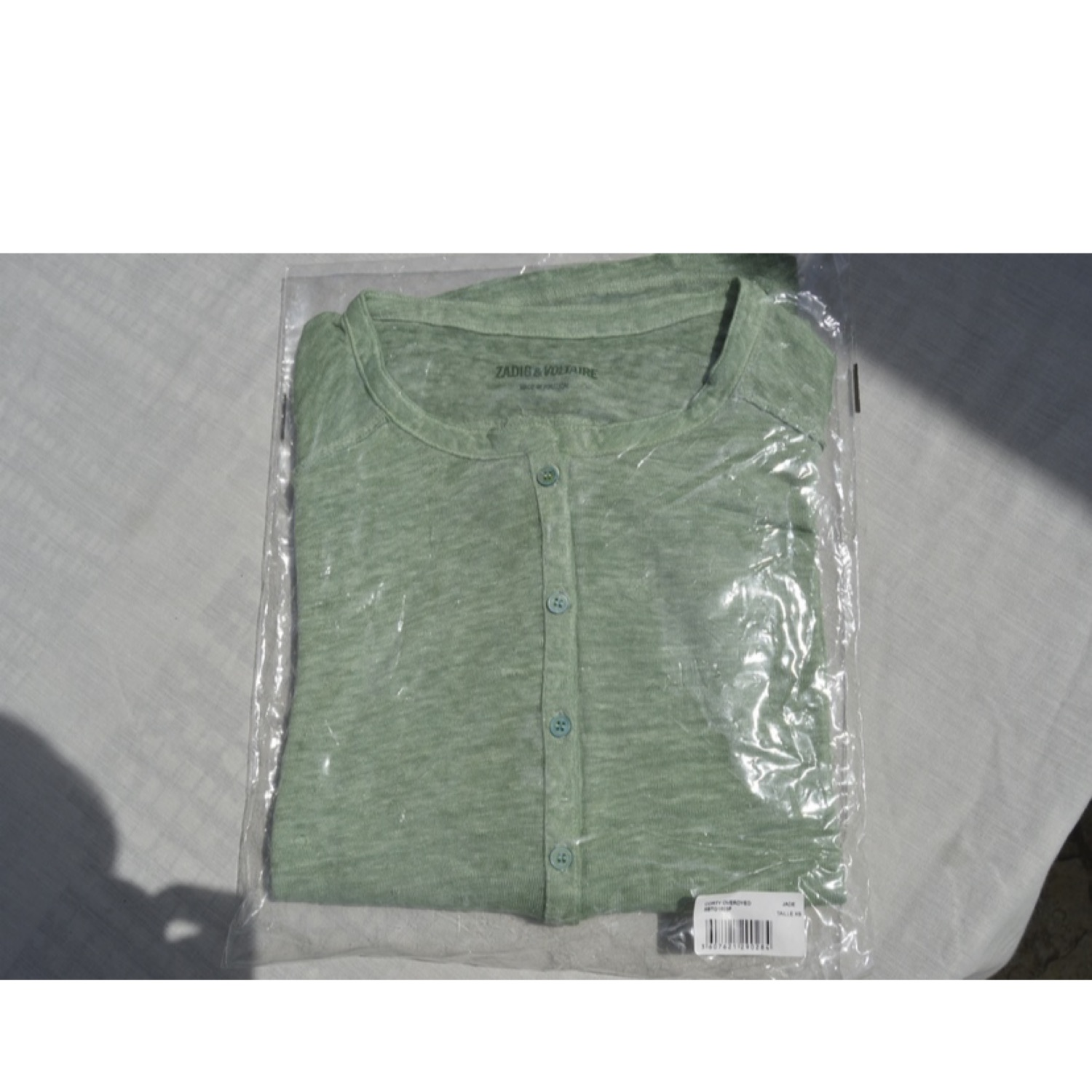 Zadig & Voltaire Corty Overdyed Jade Long Sleeve