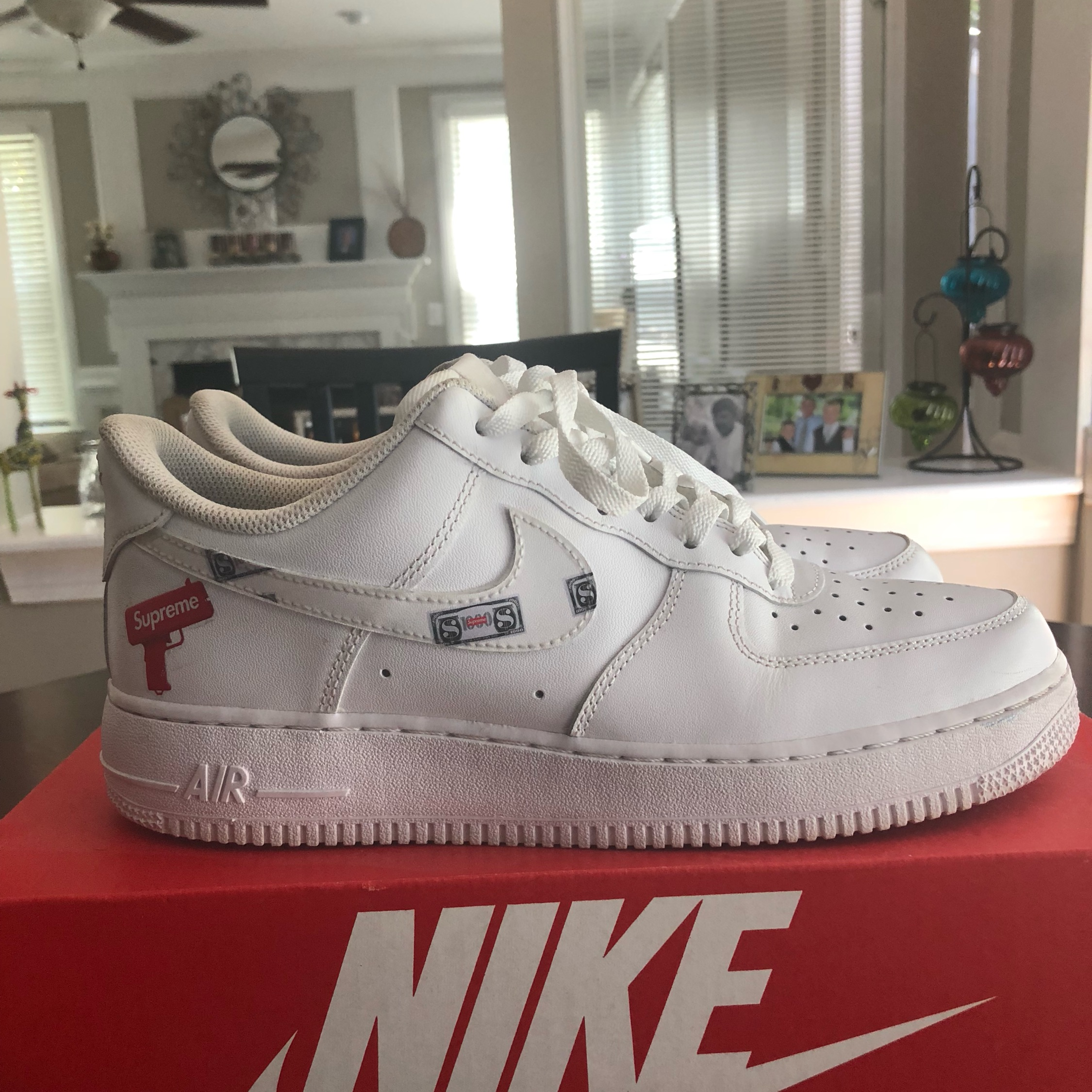 Custom Supreme Air Force One Low Size 9.5