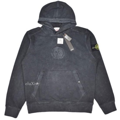 Supreme X Stone Island Black Logo Embroidered