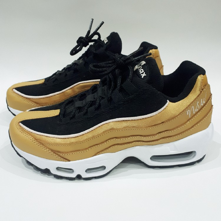 separation shoes 6c402 d9131 Womens Black/Wheat Gold Nike Air Max 95 LX. UK 4.5 US 7, EUR 38