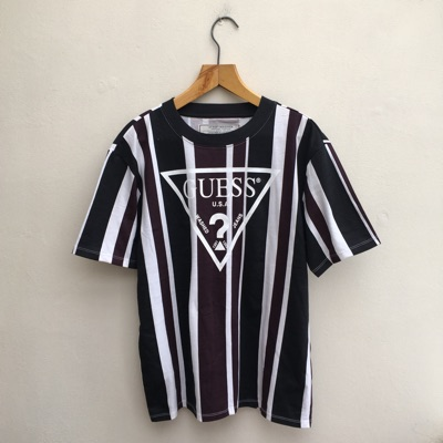 Guess Striped T Shirt - Brand New - Size S