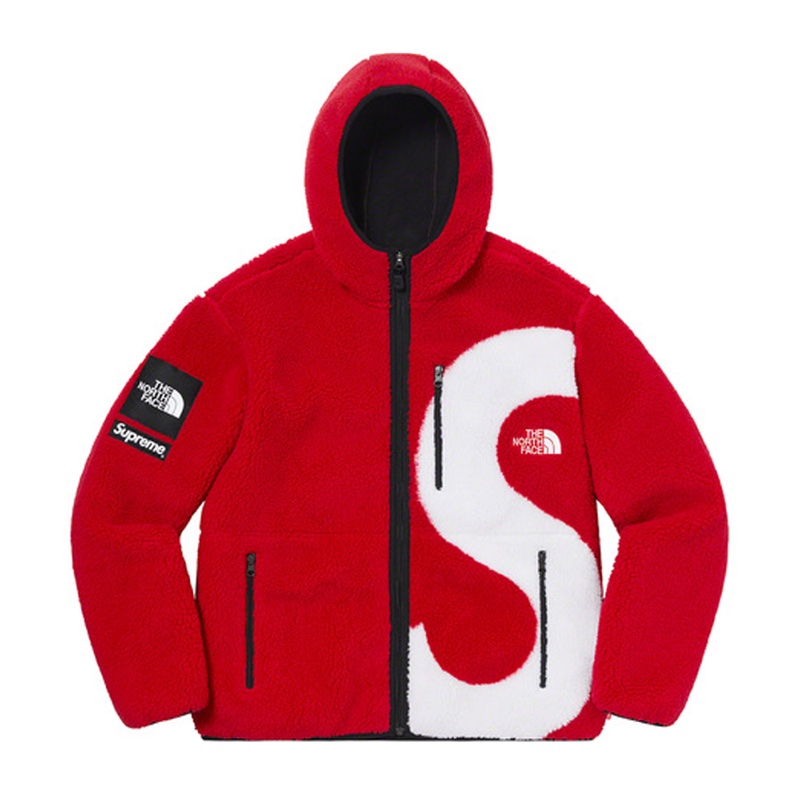 Supreme The North Face S Logo Hooded Fleece Jacket Red
