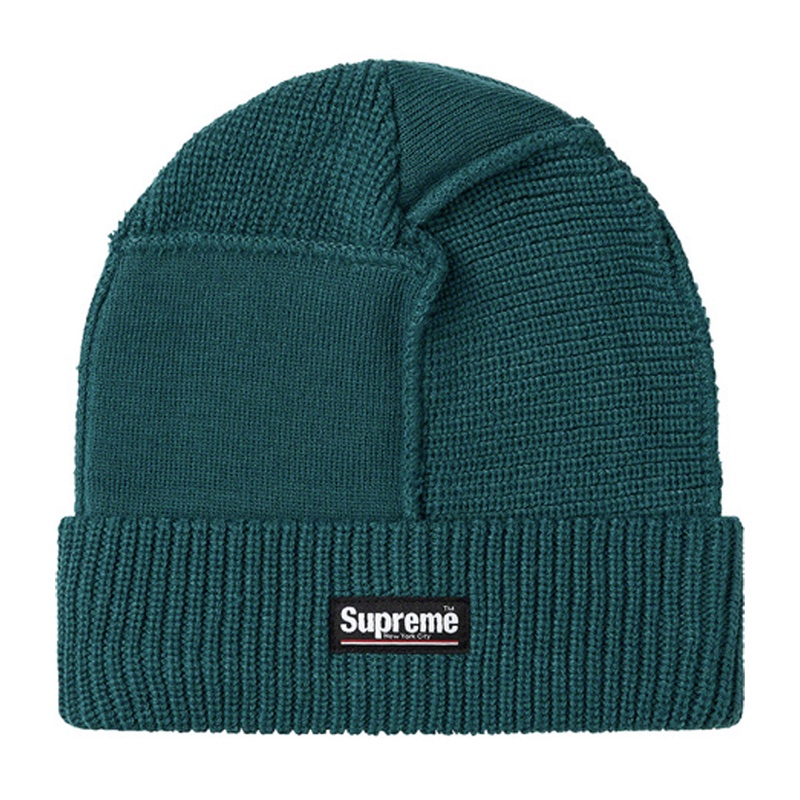 Supreme Panel Seamed Beanie Work Teal