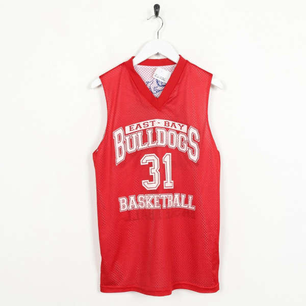 Vintage USA Basketball Reversible Polyester Jersey Top White Red | Small S