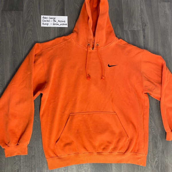 Vintage Nike Small Swoosh Orange Hoodie