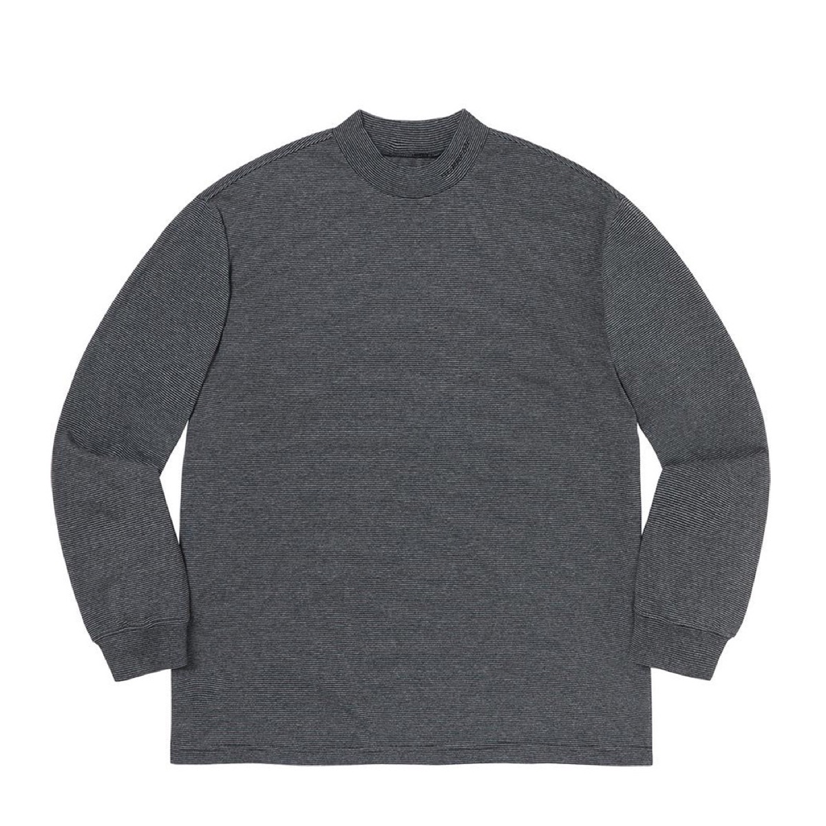 Supreme Micro Stripe Mock Neck Black