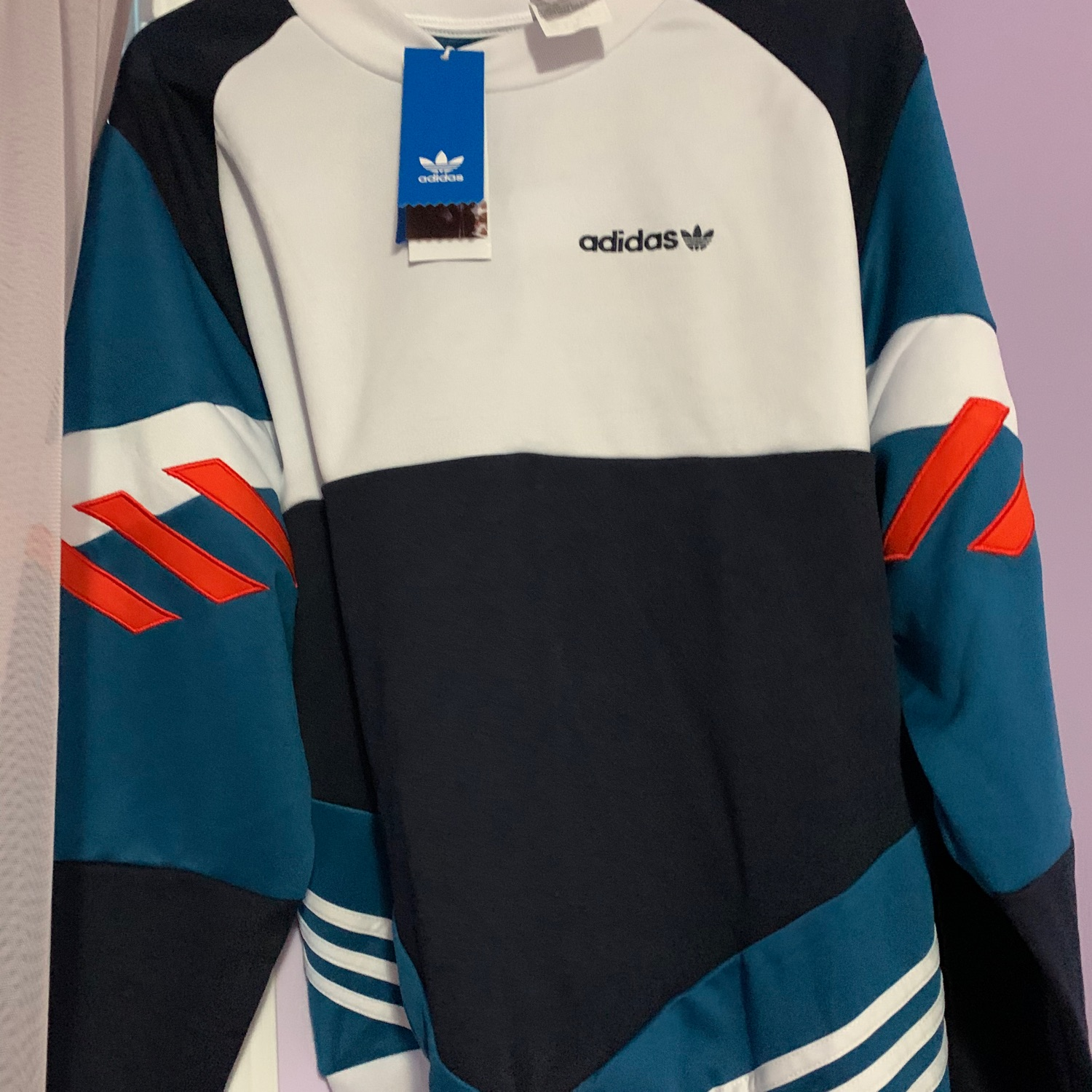 adidas originals nova retro sweatshirt in black