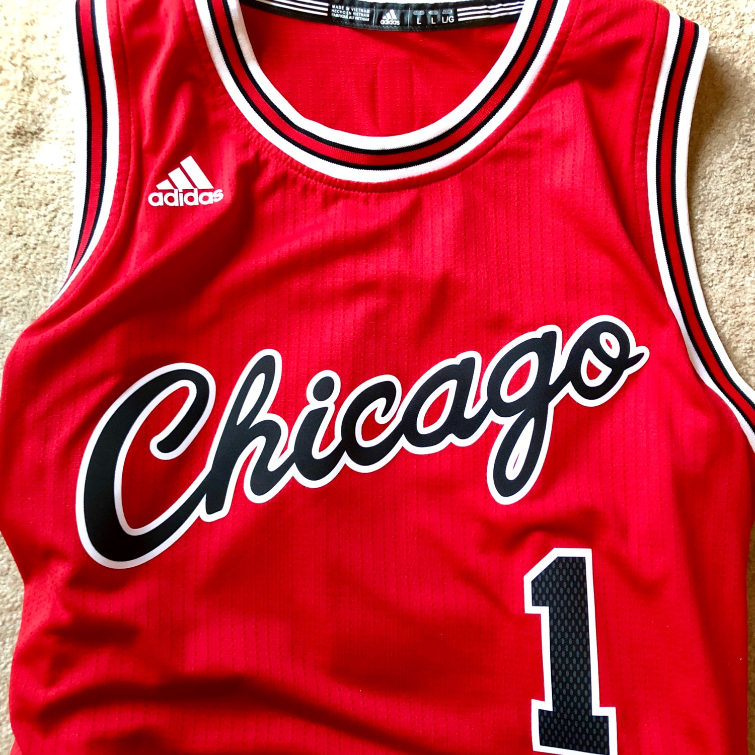 pick up 03d4c a94cf Adidas Hardwoodclassic Chicago Bulls Rose 1 Jersey