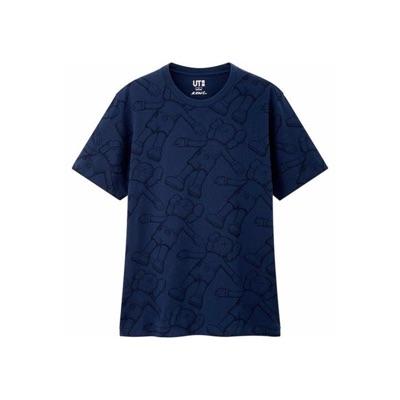 Kaws X Uniqlo All Over Holiday Print T-Shirt -Blue