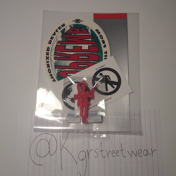 Supreme Sticker Pack And Parachute Toy