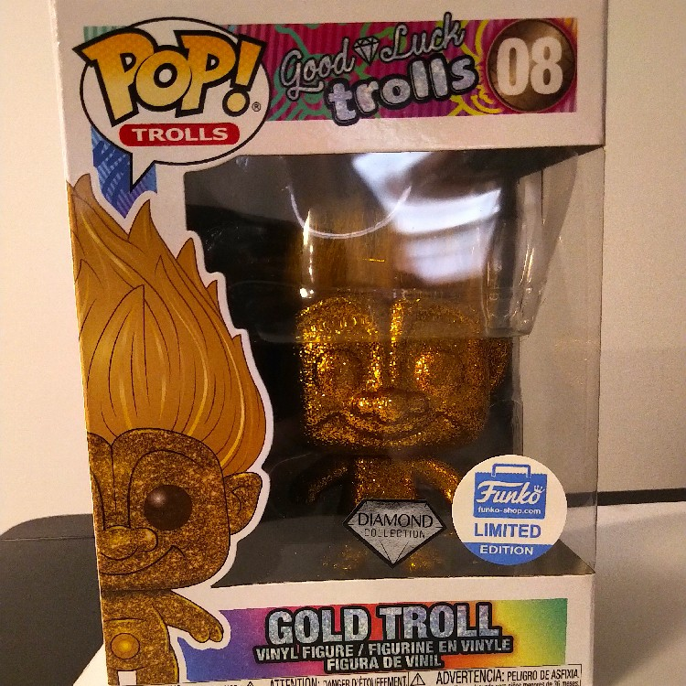 Funko Pop Good Luck Gold Troll Diamond Collection Exclusive #08