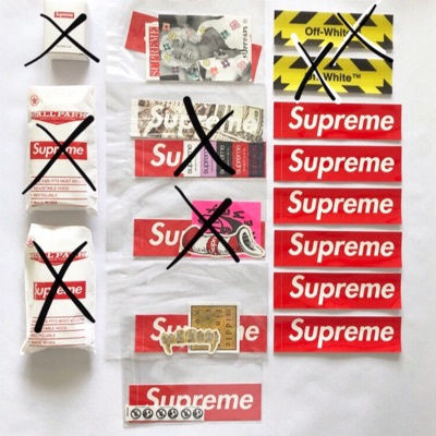 Supreme/Off-White Stickers/Stickerpack/Accessories