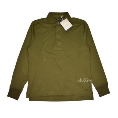 Tom Ford Olive Green Rugby Shirt Nwt