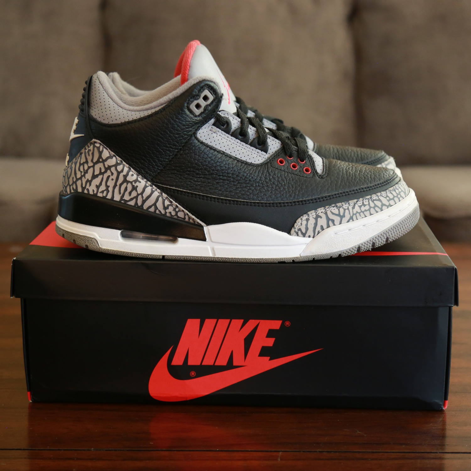competitive price 40fa7 df2d1 Nike Air Jordan Black Cement 3