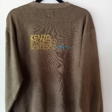 Vintage 90s Kenzo Big Logo Embroidered Sweatshirt Spellout
