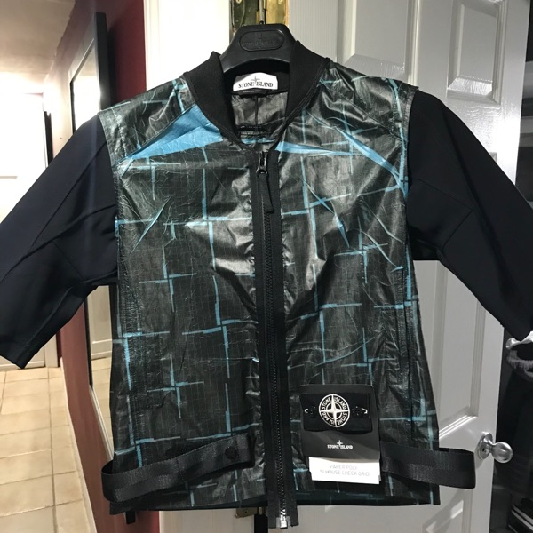 Stone Island 444J2 Paper Poly Si House Check Grid