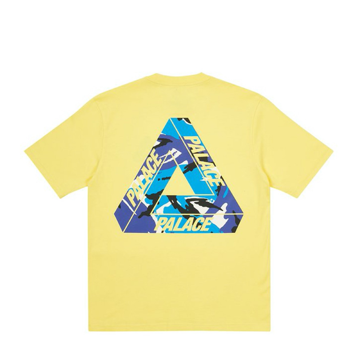 Palace Tri Camo T Shirt Pale Yellow