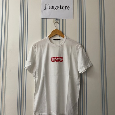 Supreme X Louisvuitton Lv Box Logo Tee