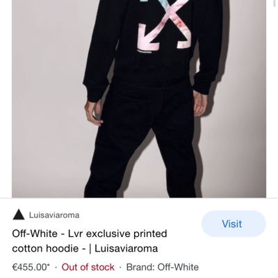 Off-White Lvr Exclusive Printed Cotton Hoodie