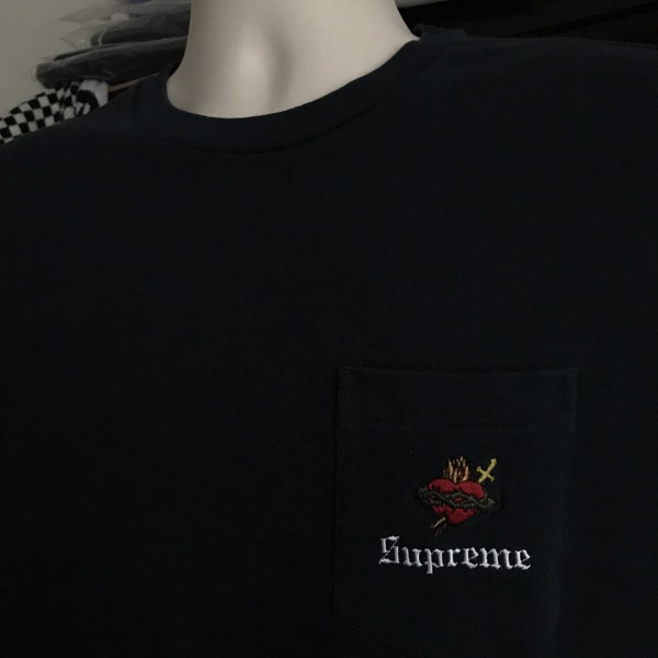 Fw17 Supreme Sacred Heart L/S Pocket Tee