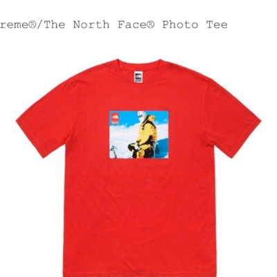 Supreme X Tnf Photo Tee Red