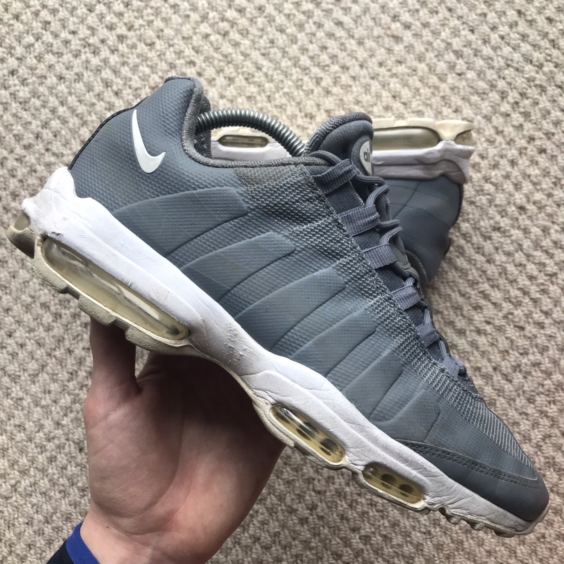 quality design e4767 541a6 Nike Air Max 95 95S Ultra Grey Gray And White
