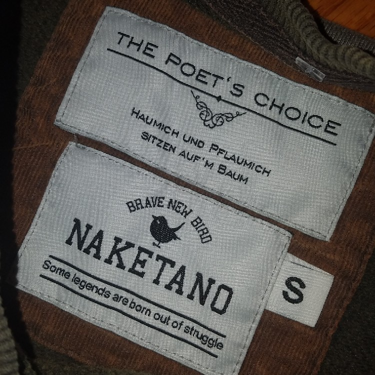 Details about Naketano Pullover Sweatshirt | The Poet's Choice | Green Gray | Men's Small