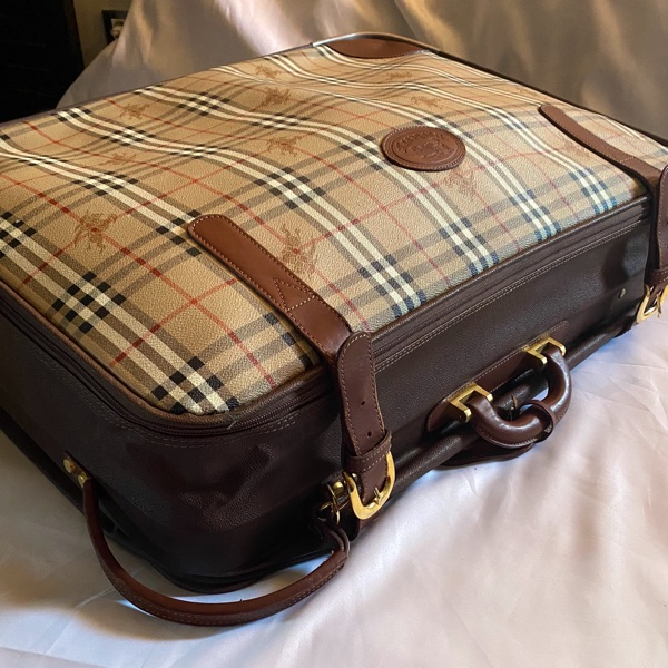 Travel Suitcase Burberry Nova Check Leather