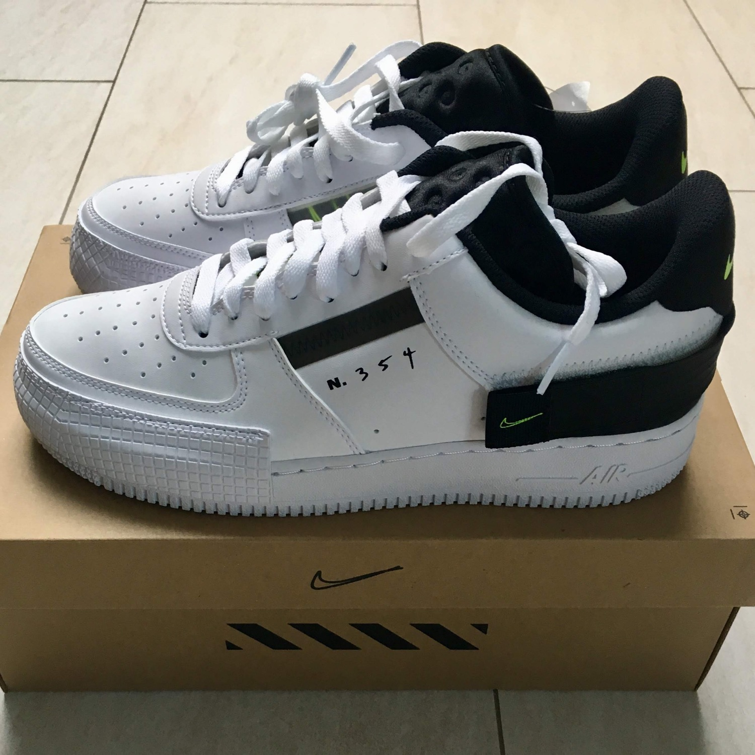 Nike Air Force 1 Low Type White Eu 45,5 | Us 11.5