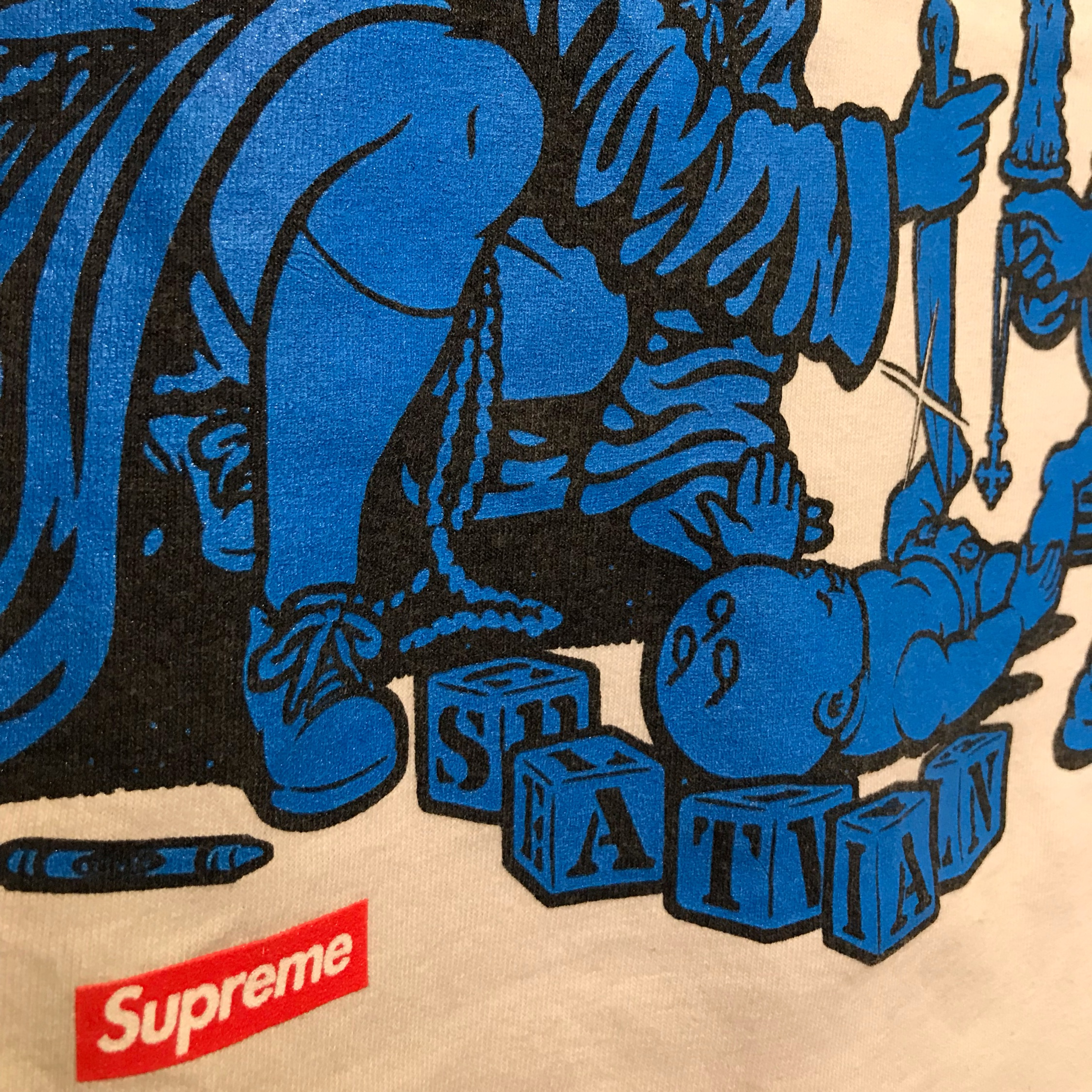 Ss08 Supreme X Sean Cliver Dick And Jane Satan Tee