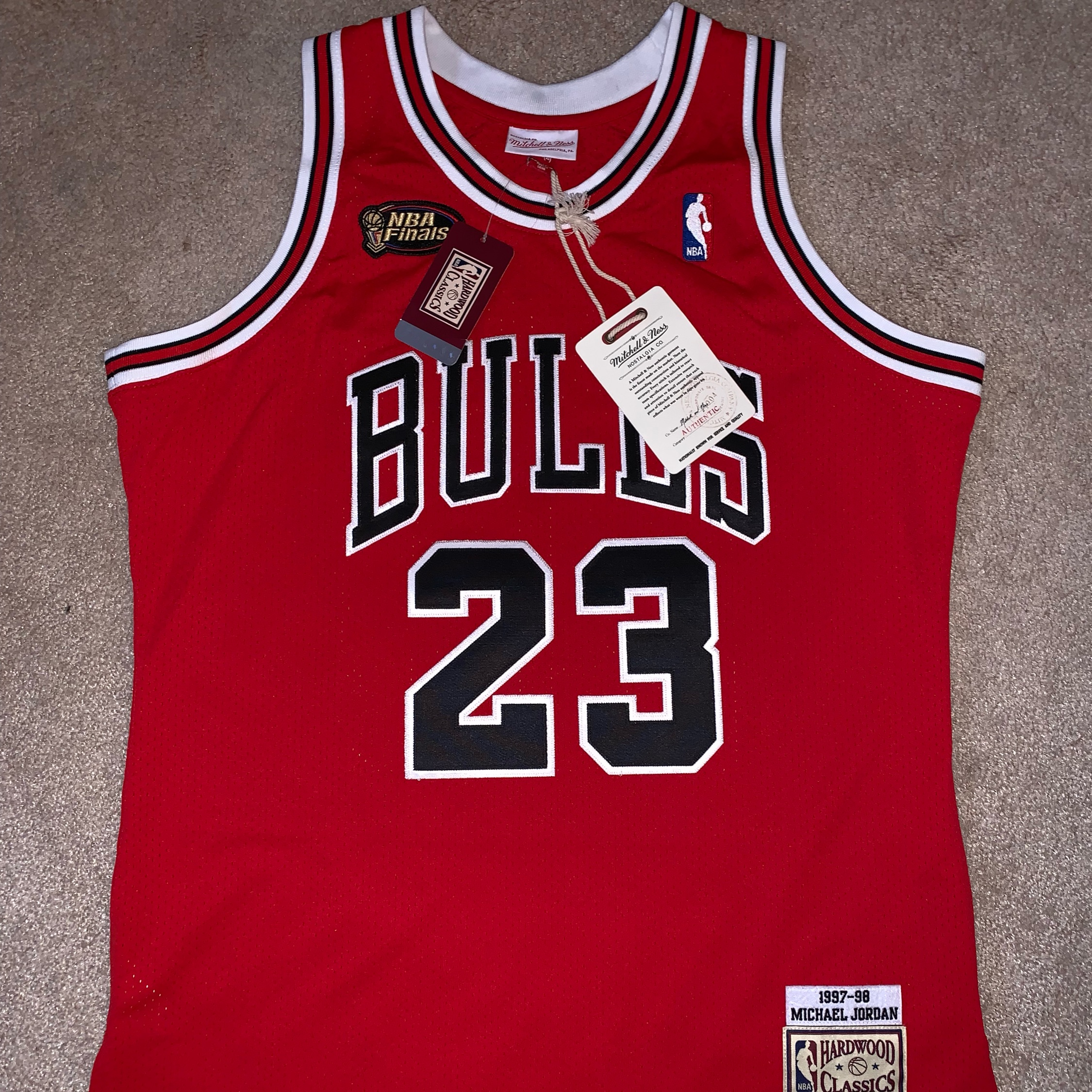 """newest collection 2493c ecfeb Mitchell & Ness '97 Finals Mj """"Last Shot"""" Jersey"""