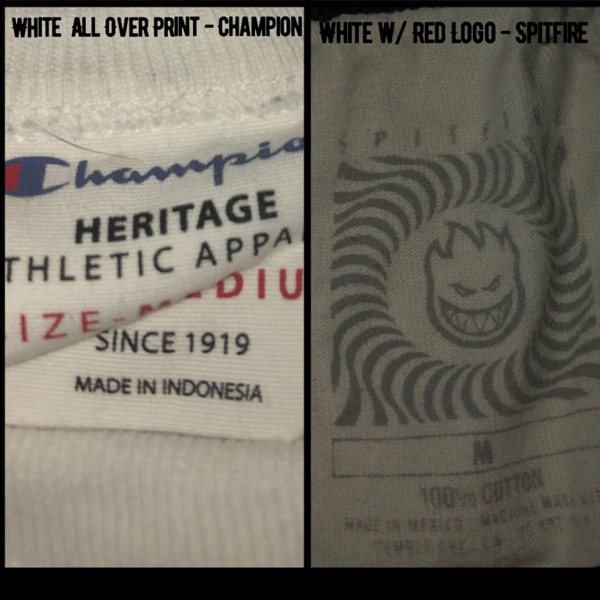 Champion All Over Tee, Spitfire Logo Tee