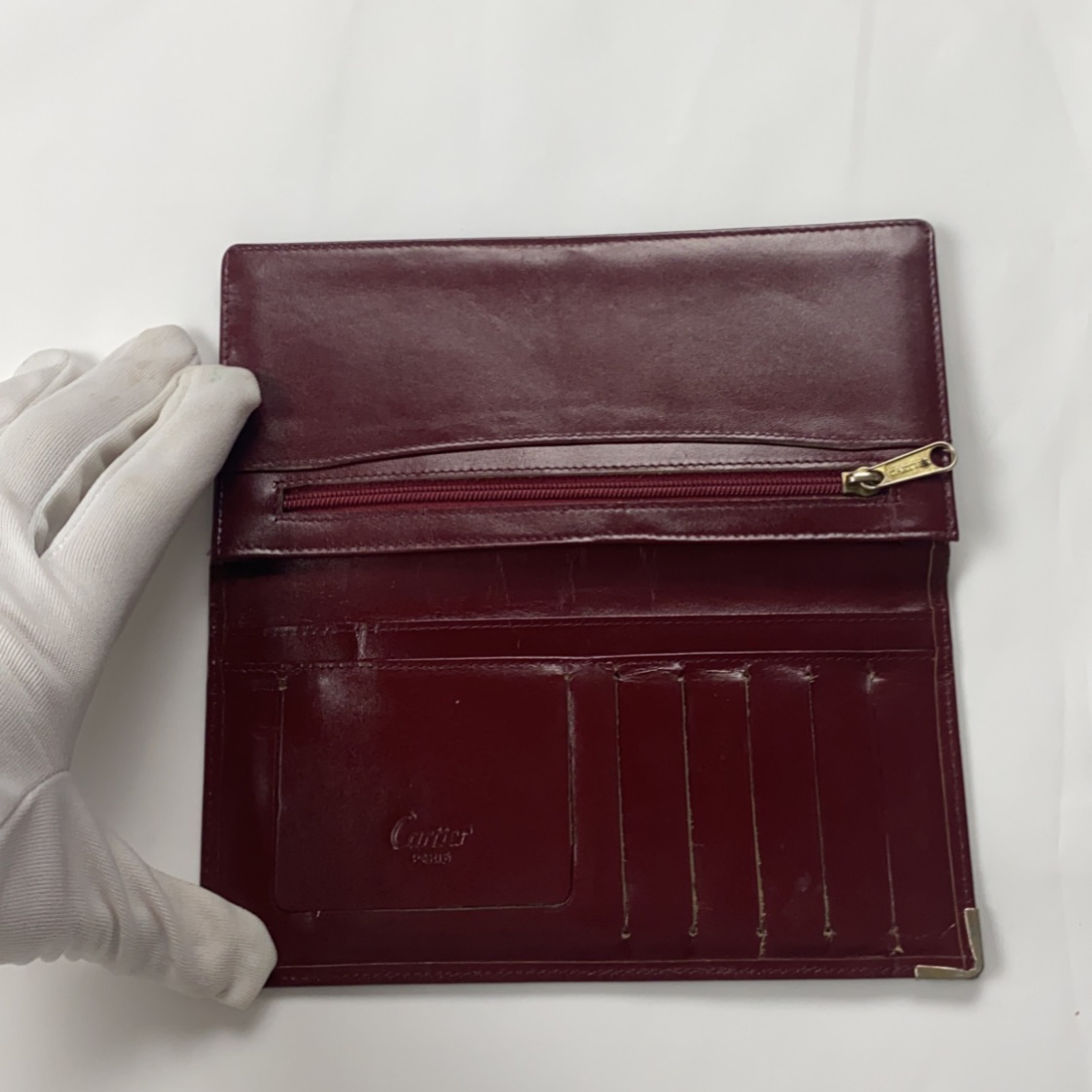 Cartier Vintage Red Long Wallet