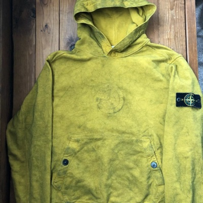 Supreme Stone Island Olive Green Moss Hoodie Ss19