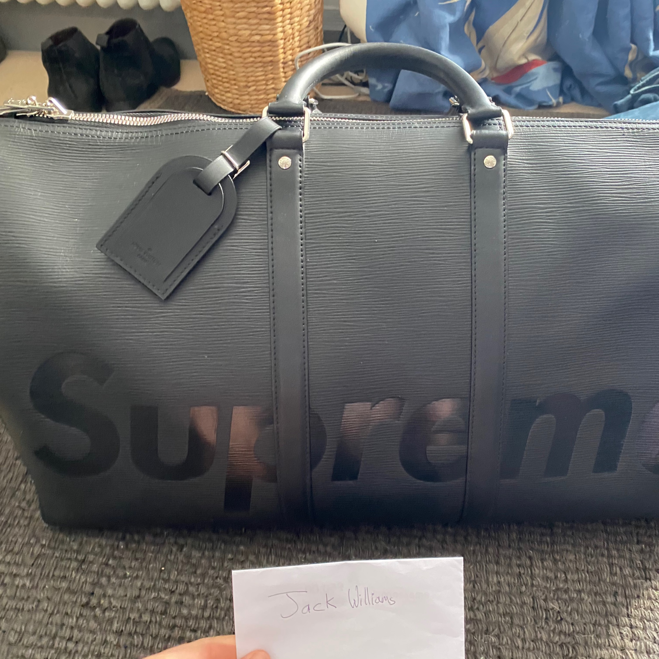 Supreme X Louis Vuitton Keepall Bandouliere 55