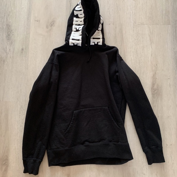 Supreme Mirrored Logo Hooded Sweatshirt (FW19) Black