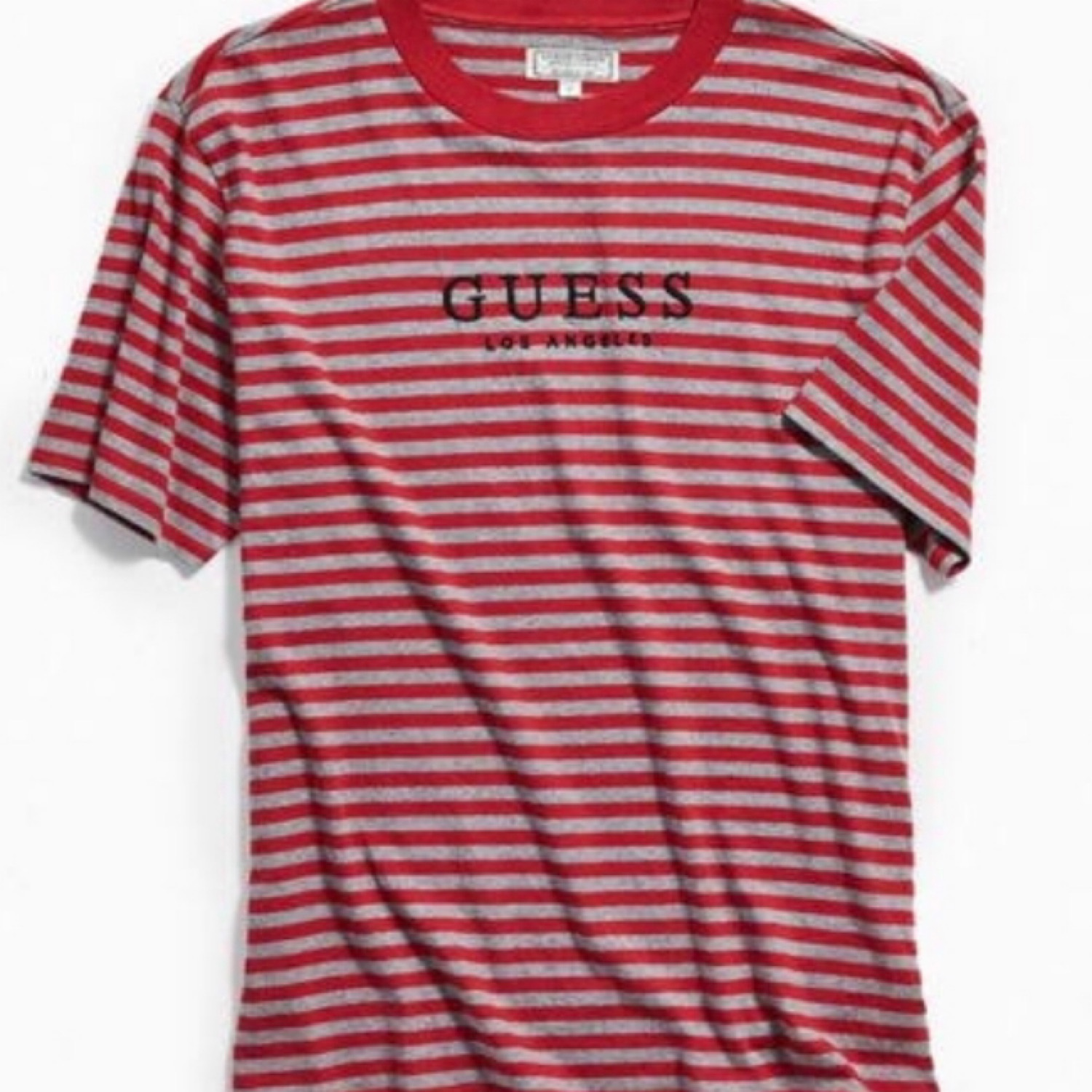 Guess Brand New Red Oversized Striped T Shirt