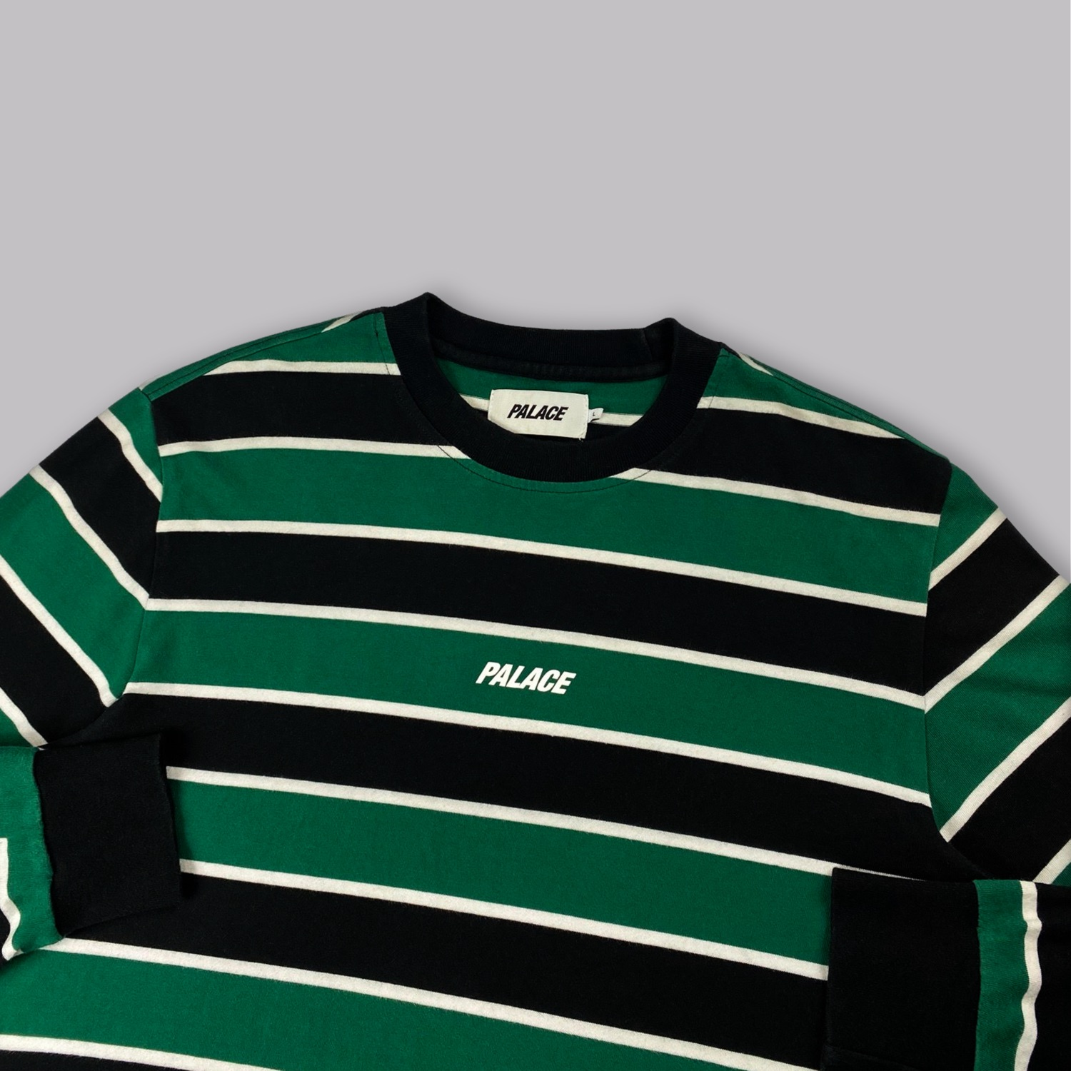 Palace Border Longsleeve Black/Green