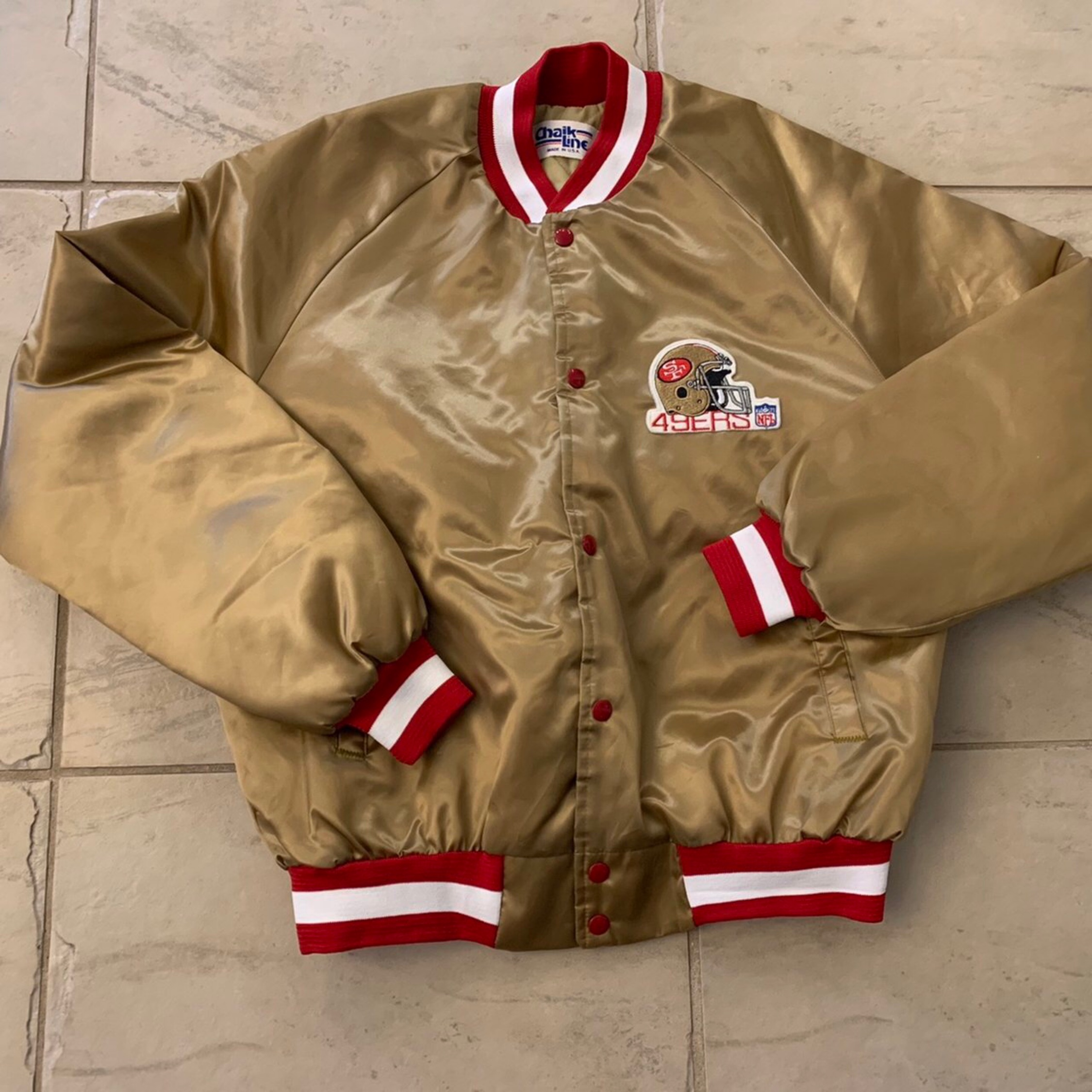 purchase cheap 44a09 1663f Vintage Chalk Line Nfl San Francisco 49Ers Jacket