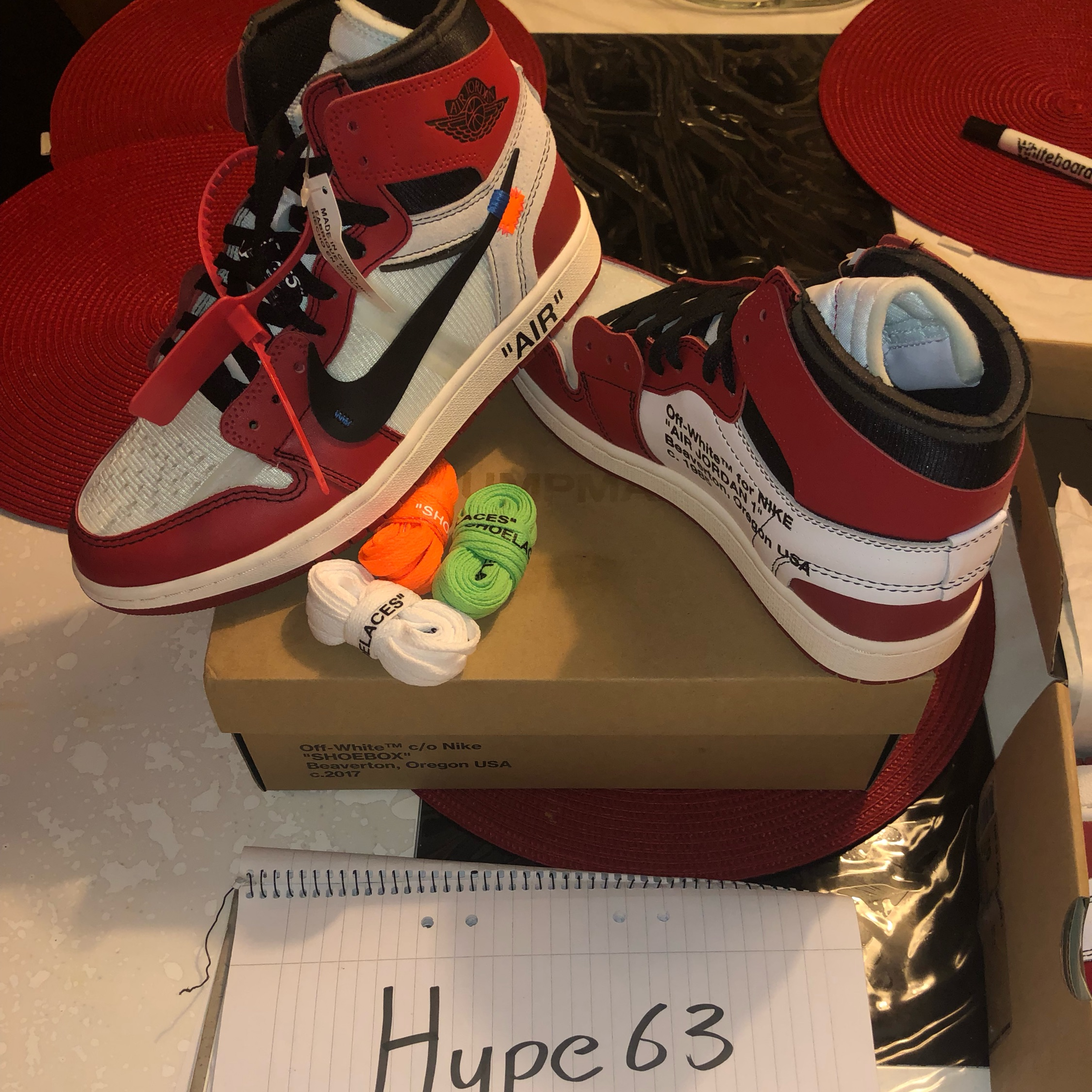 detailed pictures f3a6c 26460 Off White Chicago Air Jordan 1S