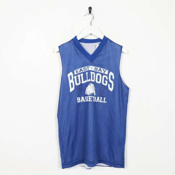 Vintage USA Reversible Polyester Basketball Jersey Top Blue White | Small S