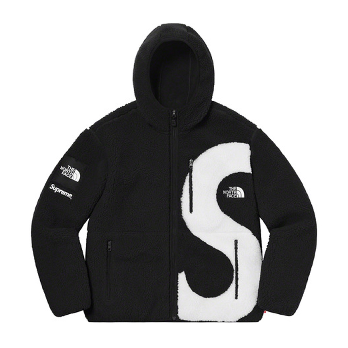 Supreme The North Face S Logo Hooded Fleece Jacket Black