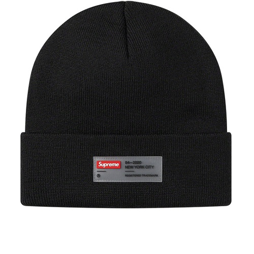 Supreme Clear Label Beanie Black
