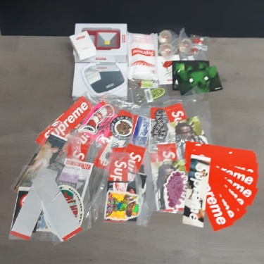 Supreme accessories and stickers