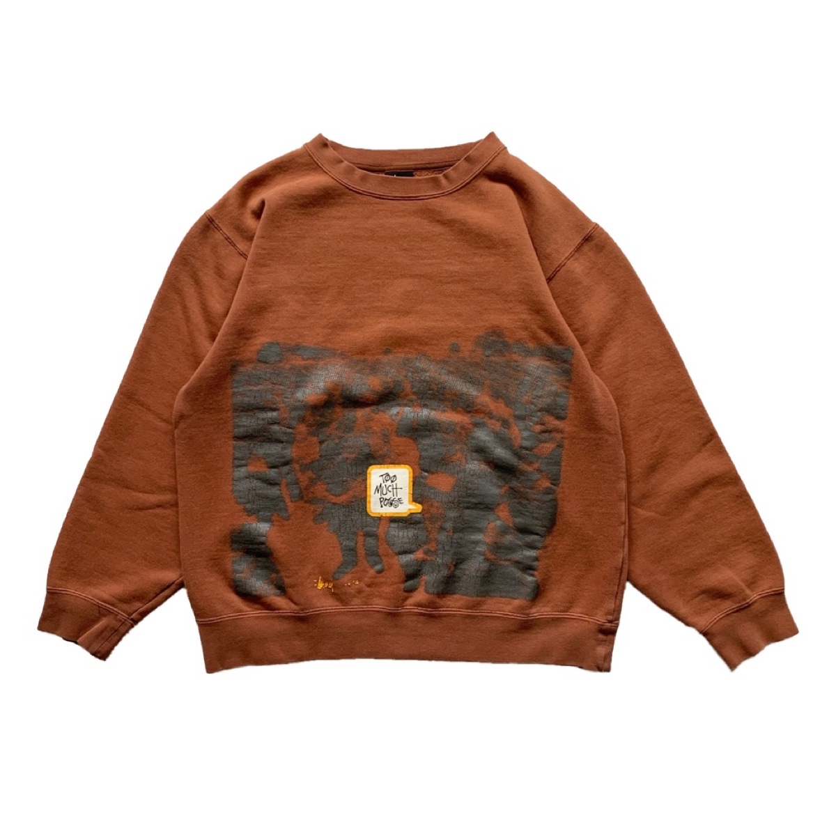 Vintage Stussy Too Much Posse Crewneck