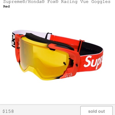 Supreme X Honda X Fox Racing Vue Goggles