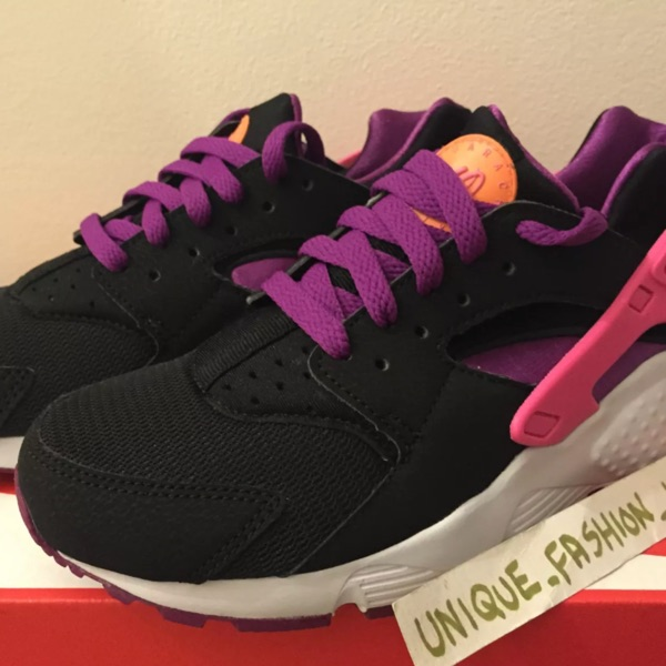 Nike Air Huarache Qs New Black Berry