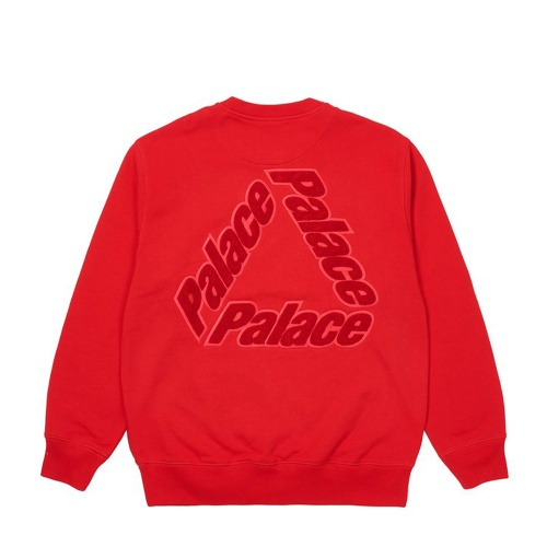 Palace P 3 Chenille Crew Red