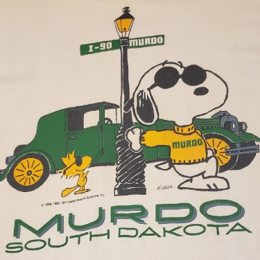 Peanuts Snoopy South Dakota Murdo