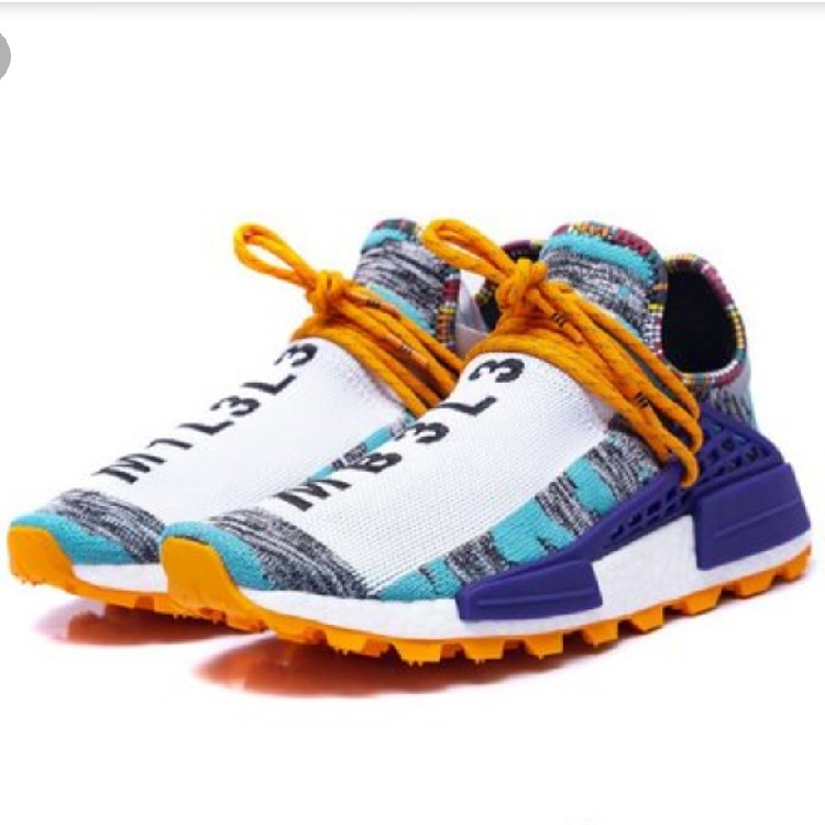 low priced 127b9 70f4a Pharrell Williams X Adidas Nmd Hu Solar Human Race Aqua